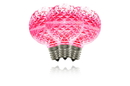 Winterland G50-DIM-RETRO-PI - G50 Dimmable Pink Commercial Retrofit Bulb With An E17 Base And 5 Internal Led Chips
