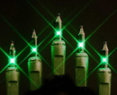 Winterland MINI-100-4-G - Green Incandescent Mini Lights