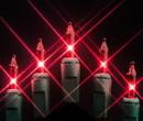 LEDgen MINI-50-4-R 50 Red Incandescent Mini Lights