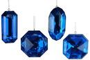 LEDgen ORN-JWL-4PK-AST-BL 4 PACK BLUE JEWEL ORNAMENTS