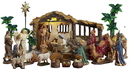 LEDgen QC-NAT-08-DLX 21 Piece Lifelike Nativity
