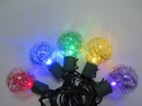 Winterland S-10G40TN5M-12G G40 , Tinsel, 10 Multi-Colored Lights, 5MM LEDs, Green Wire, Stackable Plug