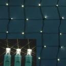 LEDgen S-4X6MMWW-NGT 5MM 4'x6' Warm White LED Twinkle Net Light on Green Wire
