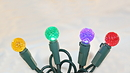 Winterland S-50G15MMMG-4G 50 Count Standard Grade Facitied G15 Removable To A 5MM Conical Multi Colored LED Light Set With In-Line Rectifer On Green Wire