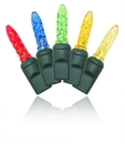 LEDgen S-70M55M-4G - 70 Count Standard Grade M5 Facitied Multi Colored LED Light Set with in-line rectifer on Green Wire