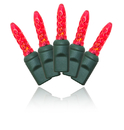 Winterland S-70M5RE-4G - 70 Count Standard Grade M5 Facitied Red LED Light Set with in-line rectifer on Green Wire