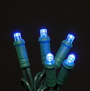 Winterland S-70MMBL-4G - 70 Count Standard Grade 5MM Conical Blue LED Light Set with in-line rectifer on Green Wire