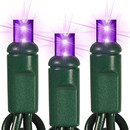 Winterland S-70MMPU-4G S-70M5Pu-4G - 70 Count Standard Grade M5 Facitied Purple LED Light Set With In-Line Rectifer On Green Wire