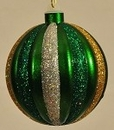 Winterland WL-BALL-100-GRGS 100MM Green, Silver, Gold Ornament Ball