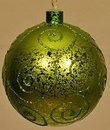 Winterland WL-BALL-120-LG 120MM Lime Green Ornament Ball With Lime Green Glitter Design