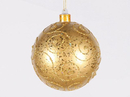 Winterland WL-BALL-140-GO 140MM Gold Ornament Ball With Gold Glitter Design