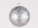 Winterland WL-BALL-200-SLV 200MM Silver Ornament Ball With Silver Glitter Design