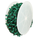 Winterland WL-C9-6G - Cordset, C9, socketed cord set, E17 sockets, green wire, 1,000 feet, 6
