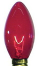 Winterland WL-C9-R - C9 incandescent transparent Red dimmable E17 Base Bulb