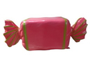 Winterland WL-CNDY-RL-HPLG Wrapped Candy Hot Pink with Lime Green Stripes