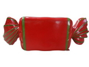 Winterland WL-CNDY-RL-REGR Wrapped Candy Red with Green Stripes
