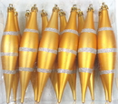 Winterland WL-FIN-12PK-LN-GS - Gold And Silver Finial Ornament With Line Design 12Pk