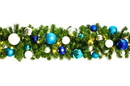 Winterland WL-GARBM-09-ARTIC-LWW 9' Pre-Lit Warm White 100 LED Blended Pine Garland Decorated with The Arctic Ornament Collection