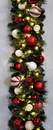 Winterland WL-GARBM-09-CDY-LWW 9' Pre-Lit Warm White LED Blended Pine Garland Decorated With The Candy Ornament Collection