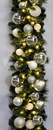 Winterland WL-GARBM-09-ICE-LWW 9' Pre-Lit Warm White LED Blended Pine Garland Decorated With The Ice Ornament Collection