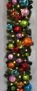Winterland WL-GARBM-09-TROP-LWW 9' Pre-Lit Warm White LED Blended Pine Garland Decorated With The Tropical Ornament Collection