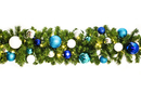 Winterland WL-GARSQ-09-ARTIC-LWW - 9' Pre-Lit Warm White Led Sequoia Garland Decorated With The Arctic Collection
