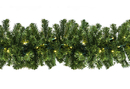 Winterland WL-GARSQ-09-LWW 9' Pre-Lit LED Warm White Sequoia Garland