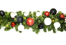 Winterland WL-GARSQ-09-MOD-LWW 9' Pre-Lit Warm White LED Sequoia Garland Decorated With The Modern Ornament Collection