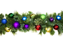 Winterland WL-GARSQ-09-ROYAL-LWW 9' Pre-Lit Warm White LED Sequoia Garland Decorated With The Royal Ornament Collection