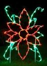 Winterland WL-GM102-LED LED Poinsettia Flower Ground Mount