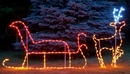 Winterland WL-GM111-LED L; Ed Santa With Reindeer Ground Mount