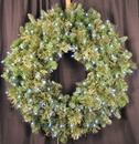 Winterland WL-GWBM-03-LPW 3' Mixed Blend Wreath Pre-Lit with Pure White LED Lights