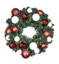 Winterland WL-GWSQ-02-CDY-LWW 2' Pre-Lit Warm White LED Sequoia Wreath Decorated With The Candy Ornament Collection