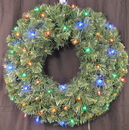 Winterland WL-GWSQ-02-L4M-BAT - 2' Pre-Lit Battery Operated Multi-Color LED Sequoia Wreath