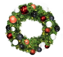 Winterland WL-GWSQ-02-MOD-LWW 2' Pre-Lit Warm White LED Sequoia Wreath Decorated With The Modern Ornament Collection