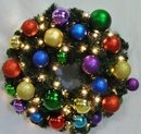 Winterland WL-GWSQ-02-ROYAL-LWW 2' Pre-Lit Warm White LED Sequoia Wreath Decorated With The Royal Ornament Collection
