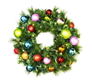 Winterland WL-GWSQ-02-TROP-LWW 2' Pre-Lit Warm White LED Sequoia Wreath Decorated With The Trpical Ornament Collection