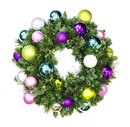 Winterland WL-GWSQ-02-VIC-LWW 2' Pre-Lit Warm White LED Sequoia Wreath Decorated With The Victorian Ornament Collection
