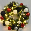 Winterland WL-GWSQ-03-MOD-LWW 3' Pre-Lit Warm White LED Sequoia Wreath Decorated With The Modern Ornament Collection