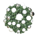 Winterland WL-GWSQ-04-ICE-LWW 4' Pre-Lit Warm White LED Sequoia Wreath Decorated With The Ice Ornament Collection