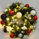 Winterland WL-GWSQ-04-MOD-LWW 4' Pre-Lit Warm White LED Sequoia Wreath Decorated With The Modern Ornament Collection