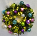 Winterland WL-GWSQ-04-VIC-LWW 4' Pre-Lit Warm White LED Sequoia Wreath Decorated With The Victorian Ornament Collection