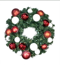 Winterland WL-GWSQ-05-CDY-LWW 5' Pre-Lit Warm White LED Sequoia Wreath Decorated With The Candy Ornament Collection