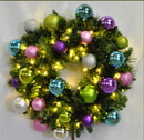 Winterland WL-GWSQ-05-VIC-LWW 5' Pre-Lit Warm White Sequoia Wreath Decorated With The Victorian Ornament Collection