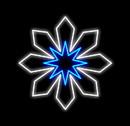 LEDgen WL-MTNF-SNFLK4-03-PWBL 3' SNOWFLAKE PURE WHITE/BLUE