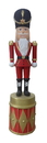 Winterland WL-NUT-08-DRM 8' Nutcracker Standing on Red and Gold Drum