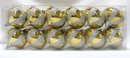 Winterland WL-ON-12PK-ST-GO Gold Onion Ornament With White Glitter Stripes 12Pk