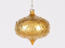 Winterland WL-ONION-80-GO 3In Matte Gold Onion Ornament With Gold Glitter Accents