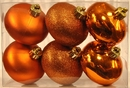 Winterland WL-ONION-S-6PK-OR 6PK Ornage Smooth Shatterproof Onion Ornaments
