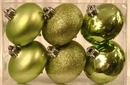 Winterland WL-ONION-S-6PK-SG 6PK Sage Green Smooth Shatterproof Onion Ornaments
